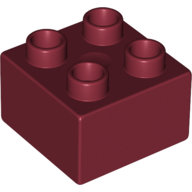 [New] Brick 2 x 2, Dark Red. /Lego DUPLO. Parts. 3437