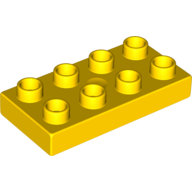 [New] Plate 2 x 4, Yellow. /Lego DUPLO. Parts. 40666
