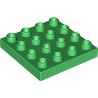 [New] Plate 4 x 4, Green. /Lego DUPLO. Parts. 10569