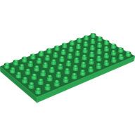 [New] Plate 6 x 12, Green. /Lego DUPLO. Parts. 4196