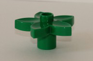 [New] Plant Flower with 1 Top Stud, Dark Green. /Lego DUPLO. Parts. 6510