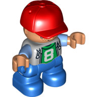 "[New] Мальчик в кепке с цифрой ""8"". /Lego DUPLO. Parts."