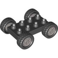[New] Колеса черные на серых дисках. /Lego DUPLO. Parts.