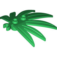 [New] Plant Leaves 6 x 5 Swordleaf with Clip (thick open O clip), Green. /Lego. Parts. 10884