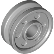 [New] Wheel 18mm D. x 8mm with Fake Bolts and Deep Spokes with Inner Ring, Light Bluish Gray (13971 / 6044729)
