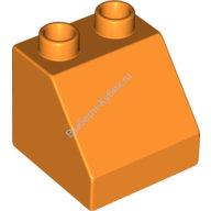 [New] Brick 2 x 2 Slope 45, Orange. /Lego DUPLO. Parts. 6474