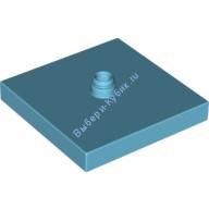 [New] Основа поворотной пластины 4х4 лазурная. /Lego DUPLO. Parts. 6136354