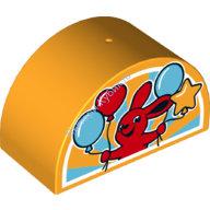 [New] Кубик полукруг 2х4 Кролик с шариками. /Lego DUPLO. Parts. 6186587