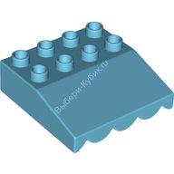 [New] Крыша-навес 4х4 лазурный. /Lego DUPLO. Parts. 6131622