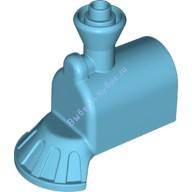[New] Носик паровоза с трубой лазурный с рисунком. /Lego DUPLO. Parts. 6167670