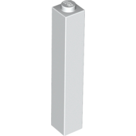 [New] Brick 1 x 1 x 5 - Solid Stud, White (2453b / 245301)