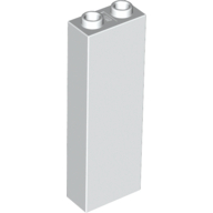 [New] Brick 1 x 2 x 5 - Blocked Open Studs / Hollow Studs, White (2454 / 245401)