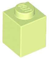 [New] Brick 1 x 1, Yellowish Green (3005)