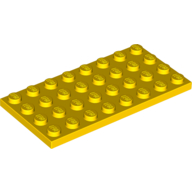 [New] Plate 4 x 8, Yellow (3035 / 303524)