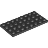 [New] Plate 4 x 8, Black (3035 / 303526)