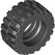 [New] Tire 30.4 x 14 Offset Tread, Black. /Lego. Parts. 30391 / 3039126 / 4140670