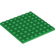 [New] Plate 8 x 8, Green (41539 / 4161677)