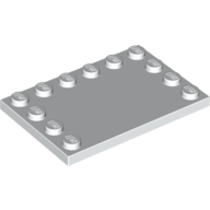 [New] Tile, Modified 4 x 6 with Studs on Edges, White (6180 / 4163986)