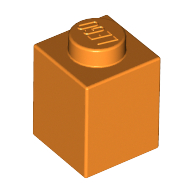 [New] Brick 1 x 1, Orange (3005 / 4173805)