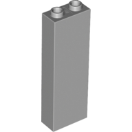 [New] Brick 1 x 2 x 5 - Blocked Open Studs / Hollow Studs, Light Bluish Gray (2454 / 4211363)