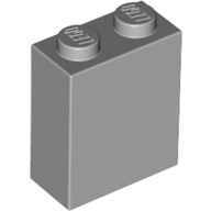 [New] Brick 1 x 2 x 2 with Inside Stud Holder, Light Bluish Gray (3245c / 4211564)
