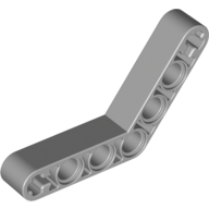 [New] Technic, Liftarm 1 x 7 Bent (4 - 4) Thick, Light Bluish Gray (32348 / 4211668)