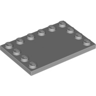 [New] Tile, Modified 4 x 6 with Studs on Edges, Light Bluish Gray (6180 / 4211838)