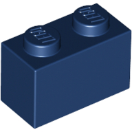 [New] Brick 1 x 2, Dark Blue (3004 / 4249891)
