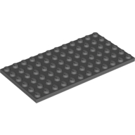 [New] Plate 6 x 12, Dark Bluish Gray (3028 / 4210657 / 4256149)