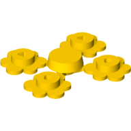 [New] Plant Flower Small, 4 on Sprue, Yellow. /Lego. Parts. 3742c01 / 4599537