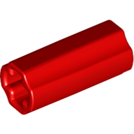 [New] Technic, Axle Connector 2L Smooth with x Hole + Orientation, Red (6538c / 4513174)