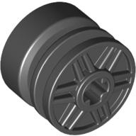 [New] Wheel 18mm D. x 14mm with Axle Hole, Fake Bolts and Shallow Spokes, Black. /Lego. Parts. 55982 / 4517737