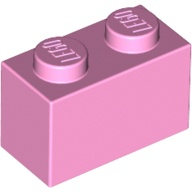 [New] Brick 1 x 2, Bright Pink (3004 / 4245295 / 4517993)