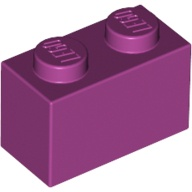 [New] Brick 1 x 2, Magenta (3004 / 4206360 / 4519195)