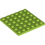 [New] Plate 6 x 6, Lime (3958 / 4525858)