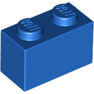 [New] Brick 1 x 2, Blue (3004 / 300423 / 4613959)