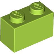 [New] Brick 1 x 2, Lime (3004 / 4164022 / 4613965)