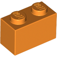 [New] Brick 1 x 2, Orange (3004 / 4121739 / 4613981)