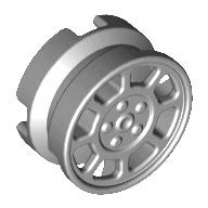 [New] Wheel 11mm D. x 6mm with 8 Spokes, Light Bluish Gray (93593 / 4621178)