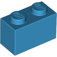 [New] Brick 1 x 2, Dark Azure (3004 / 6004943)
