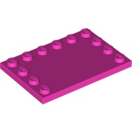 [New] Tile, Modified 4 x 6 with Studs on Edges, Dark Pink (6180 / 6024672)