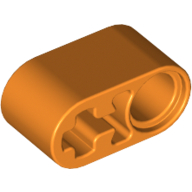 [New] Technic, Liftarm 1 x 2 Thick with Pin Hole and Axle Hole, Orange (60483 / 6057526)