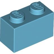 [New] Brick 1 x 2, Medium Azure (3004 / 6004945 / 6092674)