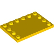 [New] Tile, Modified 4 x 6 with Studs on Edges, Yellow (6180 / 4251467 / 6146753)