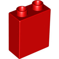 [New] Brick 1 x 2 x 2, Red. /Lego DUPLO. Parts. 4066