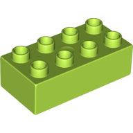 [New] Brick 2 x 4, Lime. /Lego DUPLO. Parts. 3011