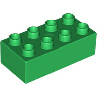 [New] Brick 2 x 4, Green. /Lego DUPLO. Parts. 3011