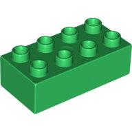 [New] Brick 2 x 4, Green. /Lego DUPLO. Parts. 3011