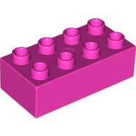 [New] Brick 2 x 4, Dark Pink. /Lego DUPLO. Parts. 3011