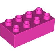 [New] Brick 2 x 4, Dark Pink. /Lego DUPLO. Parts. 3011